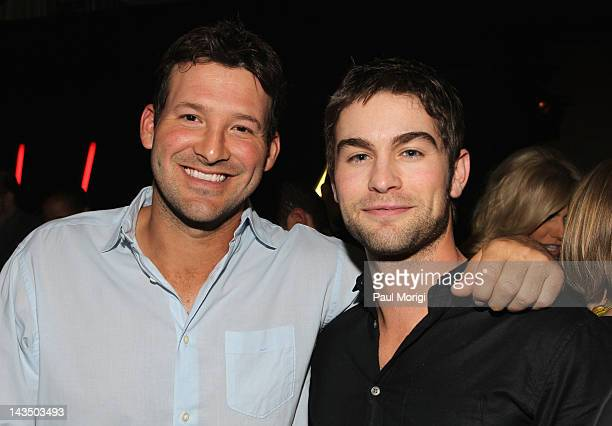 NFL player Tony Romo and actor Chace Crawford attend Google Hollywood Reporter Host an Evening Celebrating The White House Correspondents' Weekend on...