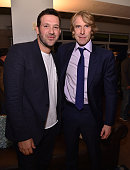 NFL player Tony Romo and director/producer Michael Bay attend the After Party for the Dallas Premiere of Paramount Pictures film '13 Hours The Secret...