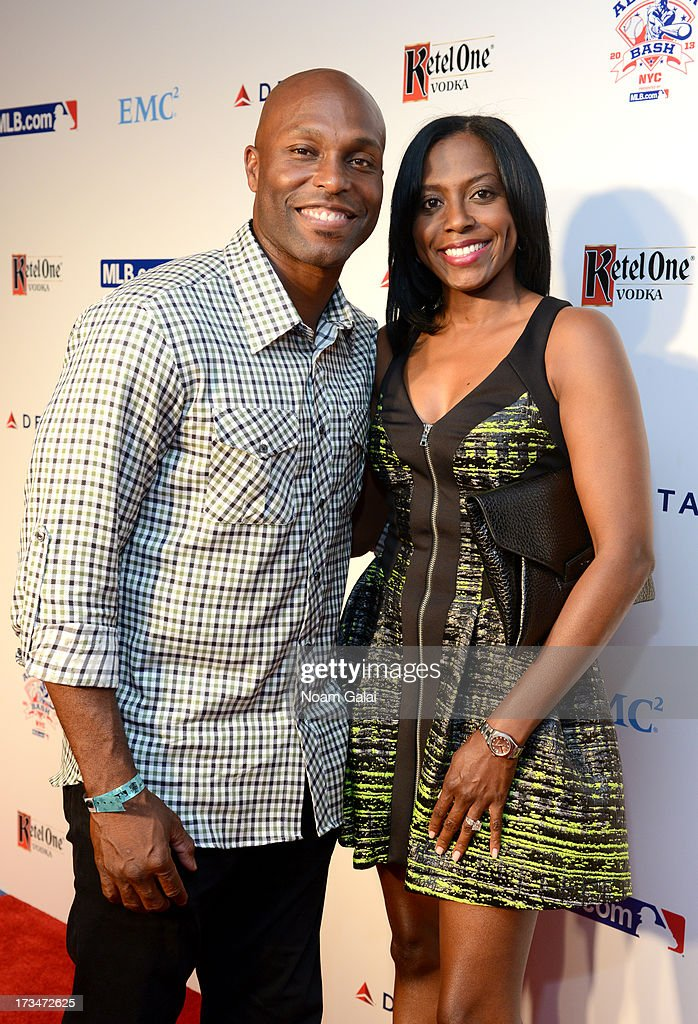 MLB player Torii Hunter (L) and a guest attend Major League Baseball's All Star Bash at Roseland Ballroom on July 14, 2013 in New York City.