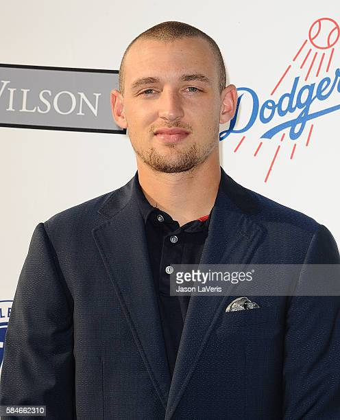 MLB player Trayce Thompson attends the Los Angeles Dodgers Foundation Blue Diamond gala at Dodger Stadium on July 28 2016 in Los Angeles California