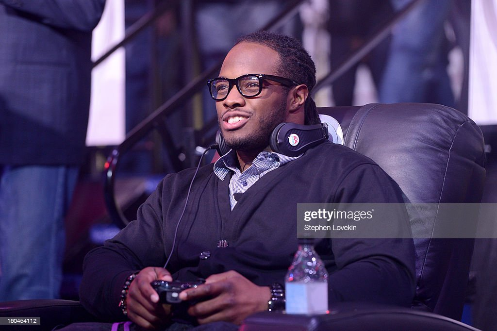 NFL player <a gi-track='captionPersonalityLinkClicked' href=/galleries/search?phrase=Trent+Richardson&family=editorial&specificpeople=5653463 ng-click='$event.stopPropagation()'>Trent Richardson</a> of the Cleveland Browns attends EA SPORTS Madden Bowl XIX at the Bud Light Hotel on January 31, 2013 in New Orleans, Louisiana.