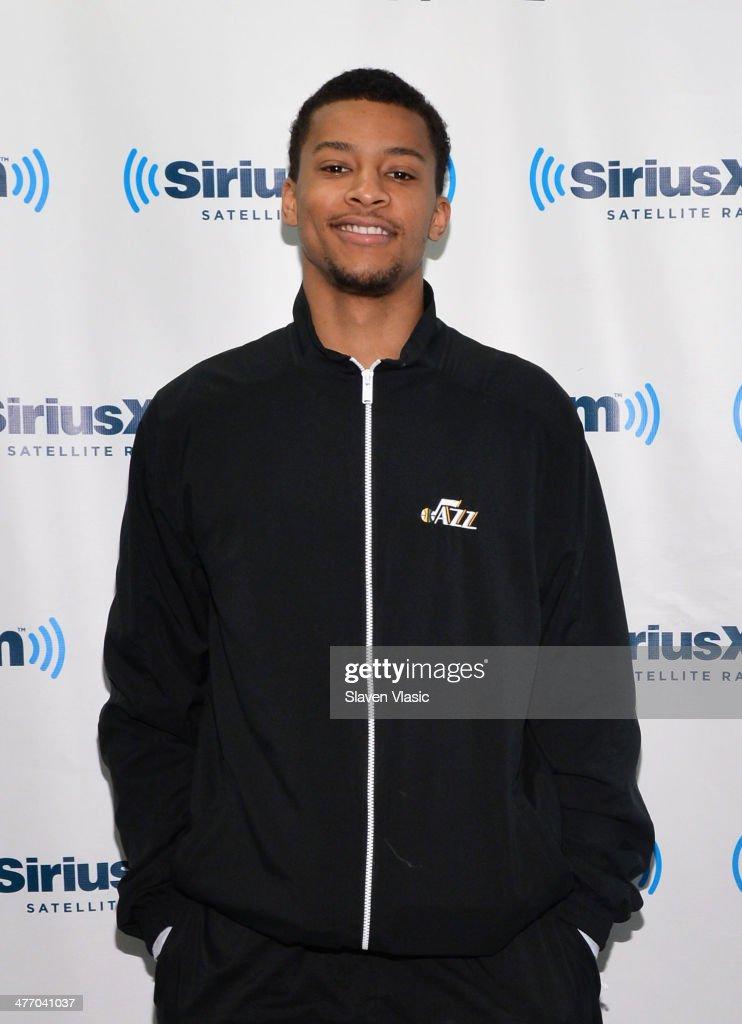 NBA player Trey Burke of Utah Jazz visits SiriusXM Studios on March 6, 2014 in New York City.