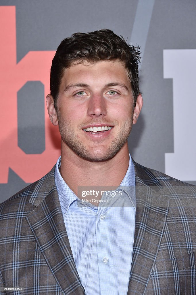 NFL player <a gi-track='captionPersonalityLinkClicked' href=/galleries/search?phrase=Tyler+Eifert&family=editorial&specificpeople=6258359 ng-click='$event.stopPropagation()'>Tyler Eifert</a> attends Bleacher Report's 'Bleacher Ball' presented by go90 at The Mezzanine prior to Sunday's big game on February 5, 2016 in San Francisco, California.