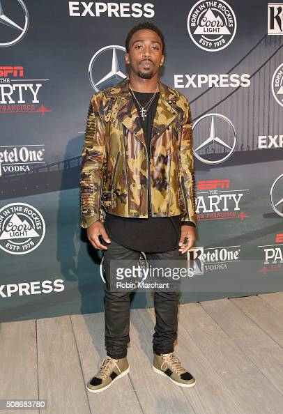 NFL player Tyrod Taylor attends ESPN The Party on February 5 2016 in San Francisco California