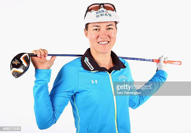 LPGA player Vicky Hurst poses for a portrait prior to the start of the North Texas LPGA Shootout Presented by JTBC at the Las Colinas Country Club on...
