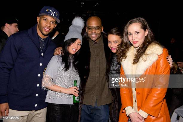 Player Victor Cruz and Damon Dash attend the Mark McNairy New Amsterdam presentation during MercedesBenz Fashion Week Fall 2014 at Eyebeam on...