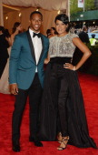 NFL player Victor Cruz and Elaina Watley attend the Costume Institute Gala for the 'PUNK Chaos to Couture' exhibition at the Metropolitan Museum of...