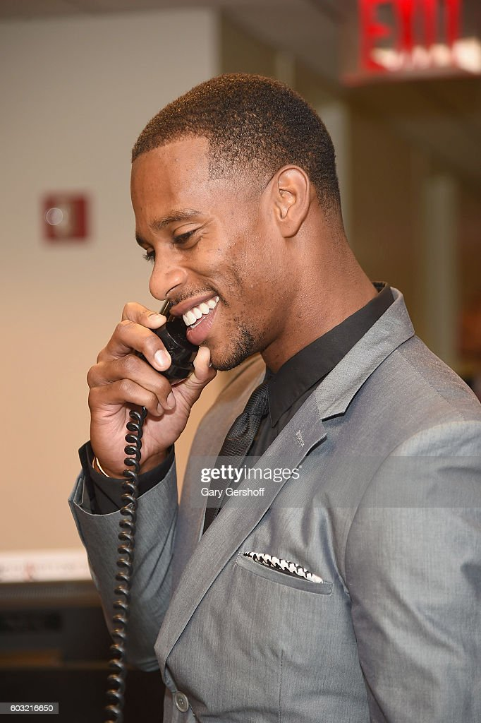 NFL player Victor Cruz attends Annual Charity Day hosted by Cantor Fitzgerald, BGC and GFI at BGC Partners, INC on September 12, 2016 in New York City.