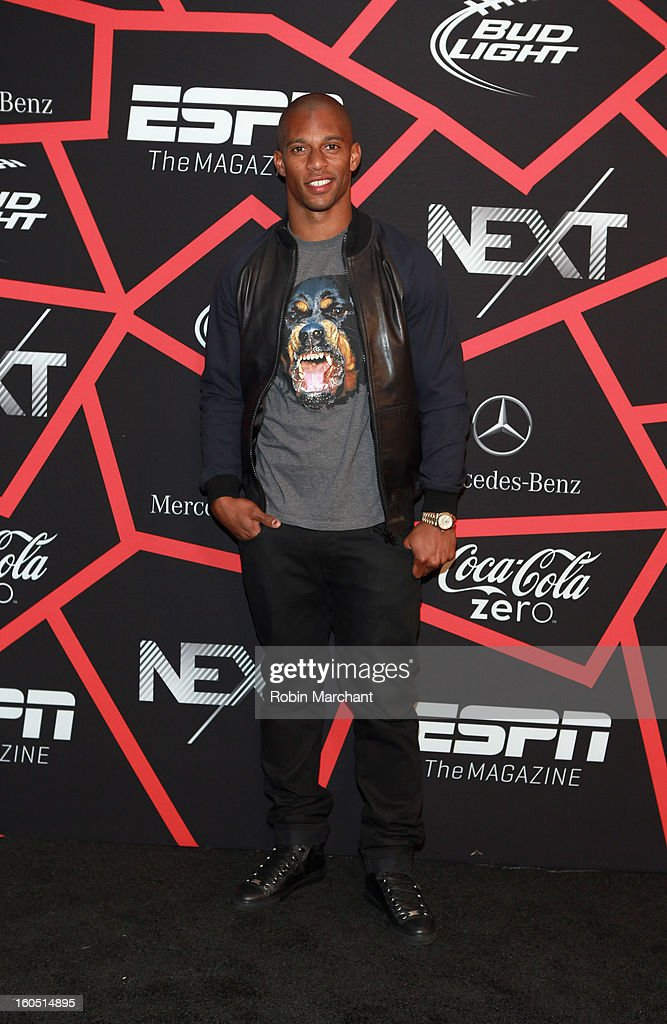 NFL player Victor Cruz attends ESPN The Magazine's 'NEXT' Event at Tad Gormley Stadium on February 1, 2013 in New Orleans, Louisiana.