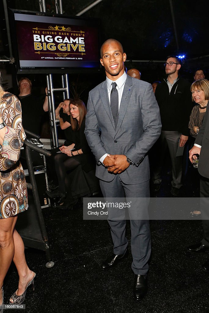 NFL player Victor Cruz attends The Giving Back Fund's 4th Annual Big Game Big Give Super Bowl Celebration on February 2, 2013 in New Orleans, Louisiana.