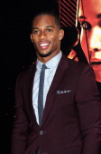 Player Victor Cruz attends the 'Hunger Games Catching Fire' New York Premiere at AMC Lincoln Square Theater on November 20 2013 in New York City