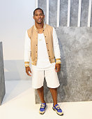 Player Victor Cruz attends the John Elliott CO Show during New York Fashion Week Men's S/S 2016 at Skylight Clarkson Sq on July 15 2015 in New York...