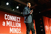 NFL player Victor Cruz attends Time Warner Cable Studios Victor Cruz and Anne Burrell Host 'Connect A Million Minds' Family Day at Highline Stages on...
