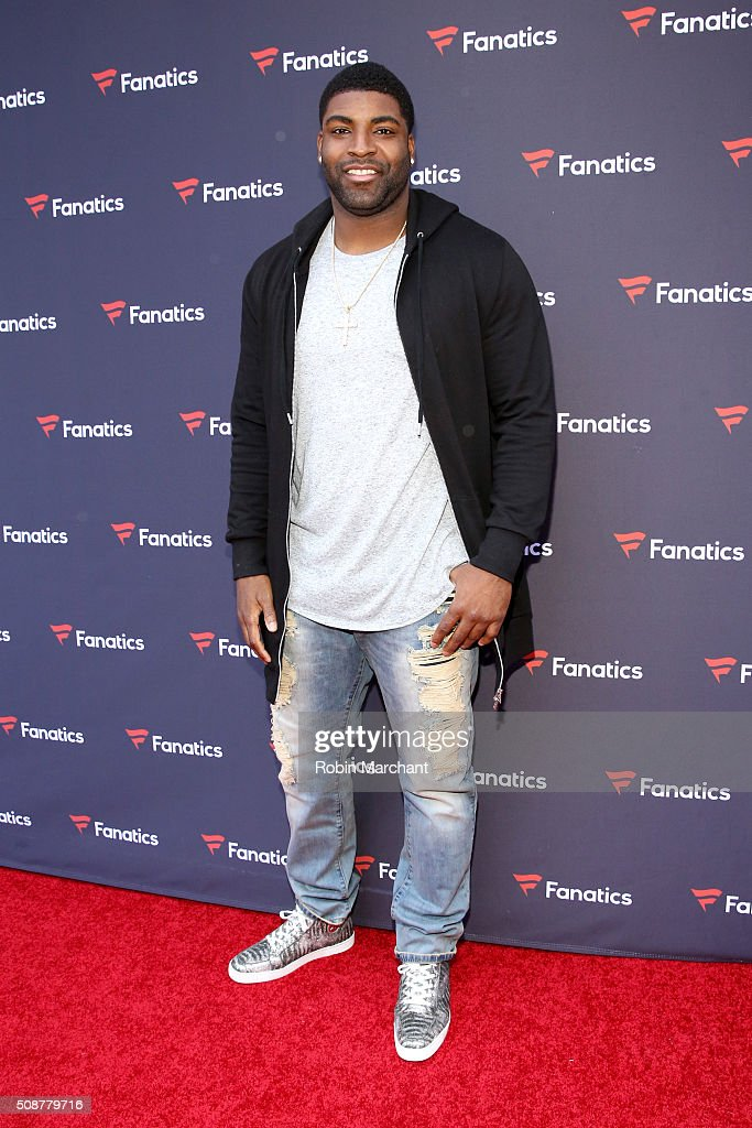 NFL player <a gi-track='captionPersonalityLinkClicked' href=/galleries/search?phrase=Vinny+Curry&family=editorial&specificpeople=5523692 ng-click='$event.stopPropagation()'>Vinny Curry</a> attends Fanatics Super Bowl Party on February 6, 2016 in San Francisco, California.