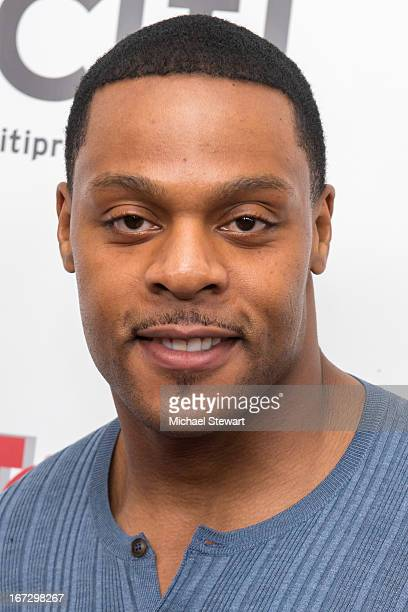 Player Visanthe Shiancoe attends the 'All My Children' 'One Life To Live' premiere at Jack H Skirball Center for the Performing Arts on April 23 2013...
