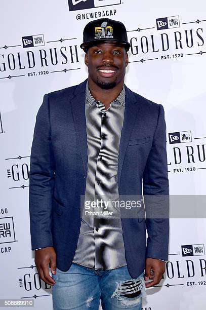 NFL player Vontae Davis attends the New Era Super Bowl party at The Battery on February 6 2016 in San Francisco California