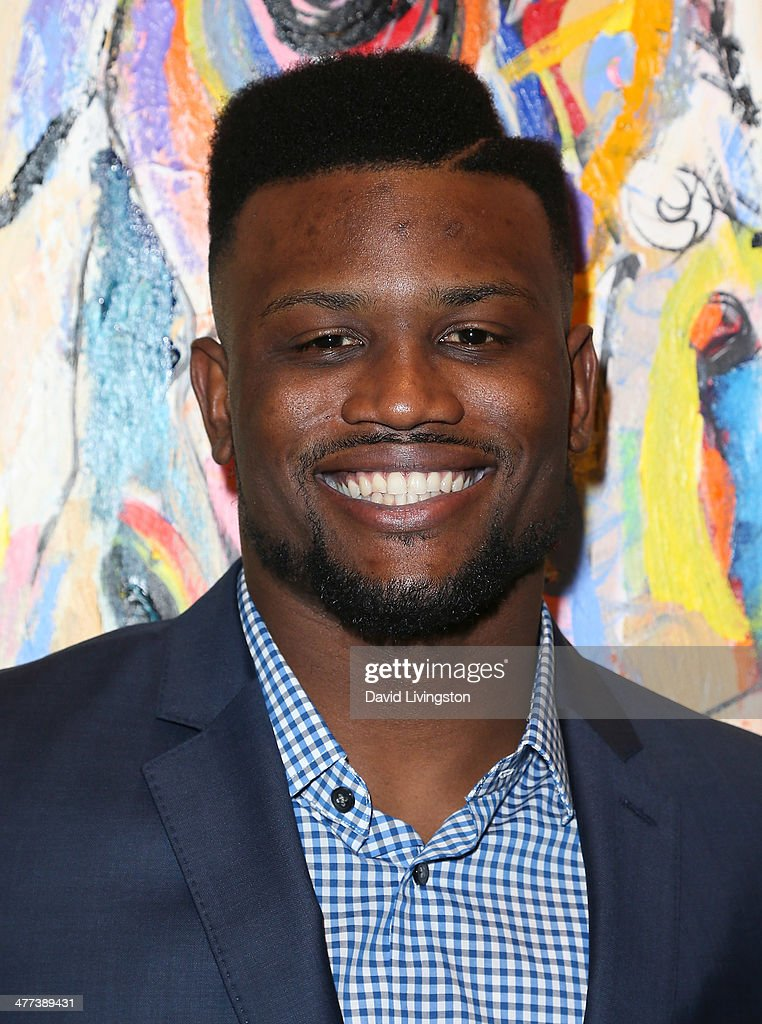 NLF player Walter Thurmond attends the Alexander Yulish 'An Unquiet Mind' VIP opening reception at KM Fine Arts LA Studio on March 8, 2014 in Los Angeles, California.