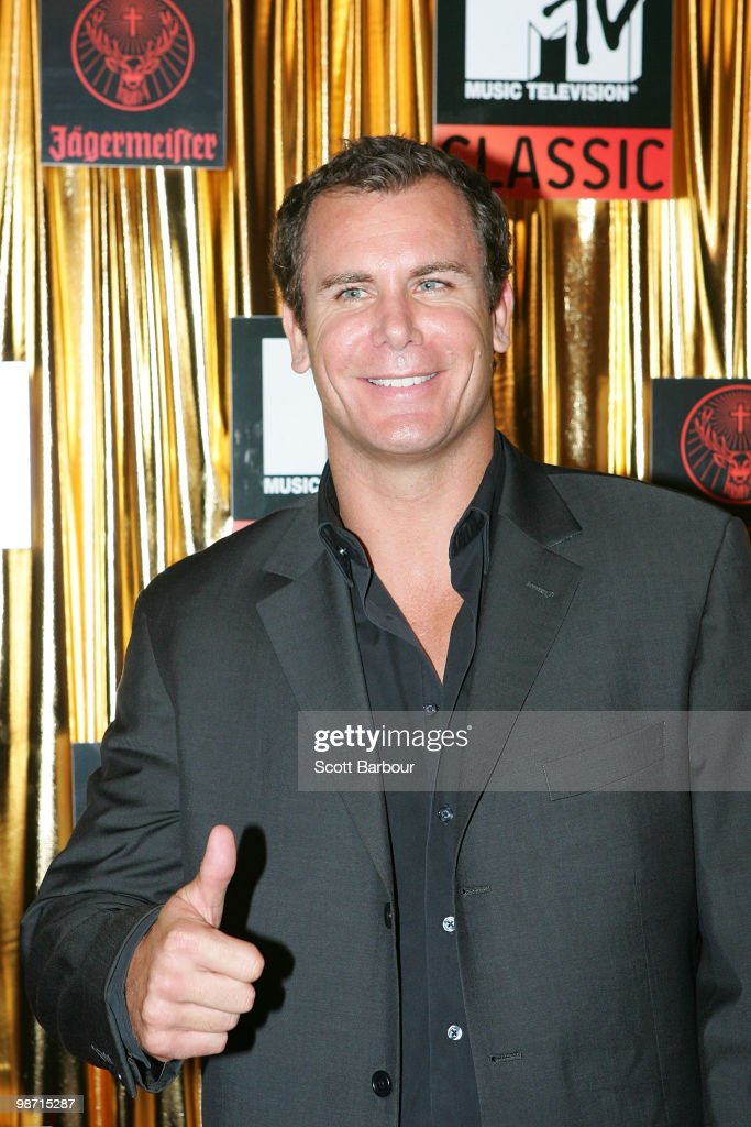 AFL player Wayne Carey arrives at the 'MTV Classic: The Launch' music event at the Palace Theatre on April 28, 2010 in Melbourne, Australia. The event marks the launch of MTV's new music channel 'MTV Classic', a 24-hour channel of classic contemporary music aimed at 25-40 year olds.