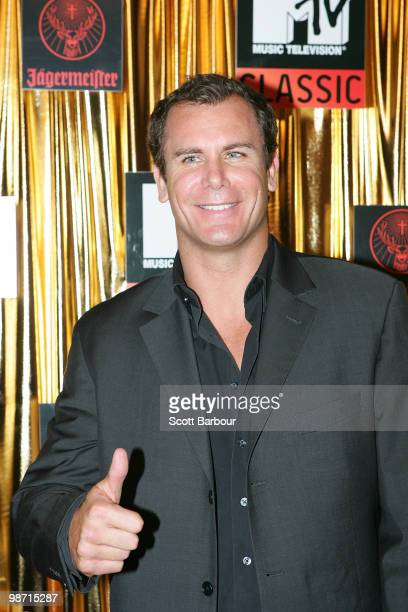 AFL player Wayne Carey arrives at the 'MTV Classic The Launch' music event at the Palace Theatre on April 28 2010 in Melbourne Australia The event...
