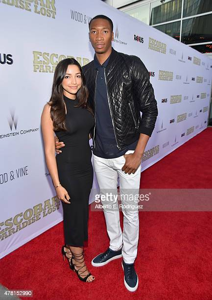 NBA player Wesley Johnson attends the premiere of RADiUS and The Weinstein Company's 'Escobar Paradise Lost' at ArcLight Hollywood on June 22 2015 in...
