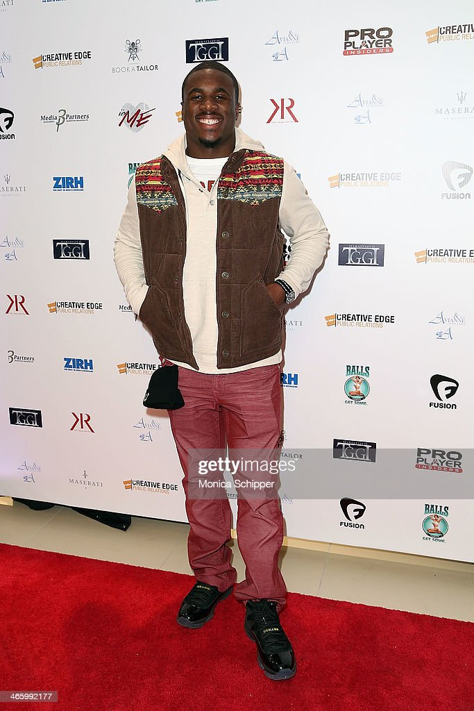 NFL player with the New York Giants, Charles James, attends the 7th Annual Music Meets Fashion Event on January 30, 2014 in New York City.