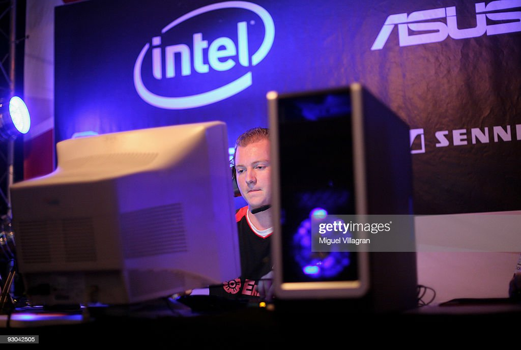 A player with the nickname 'GreX' concentrates as he plays Counter Strike during the 'Intel Friday Night Game' organized by the Electronic Sports League at Tonhalle on November 13, 2009 in Munich, Germany. Germany's best electronic sports teams meet to play against each other.