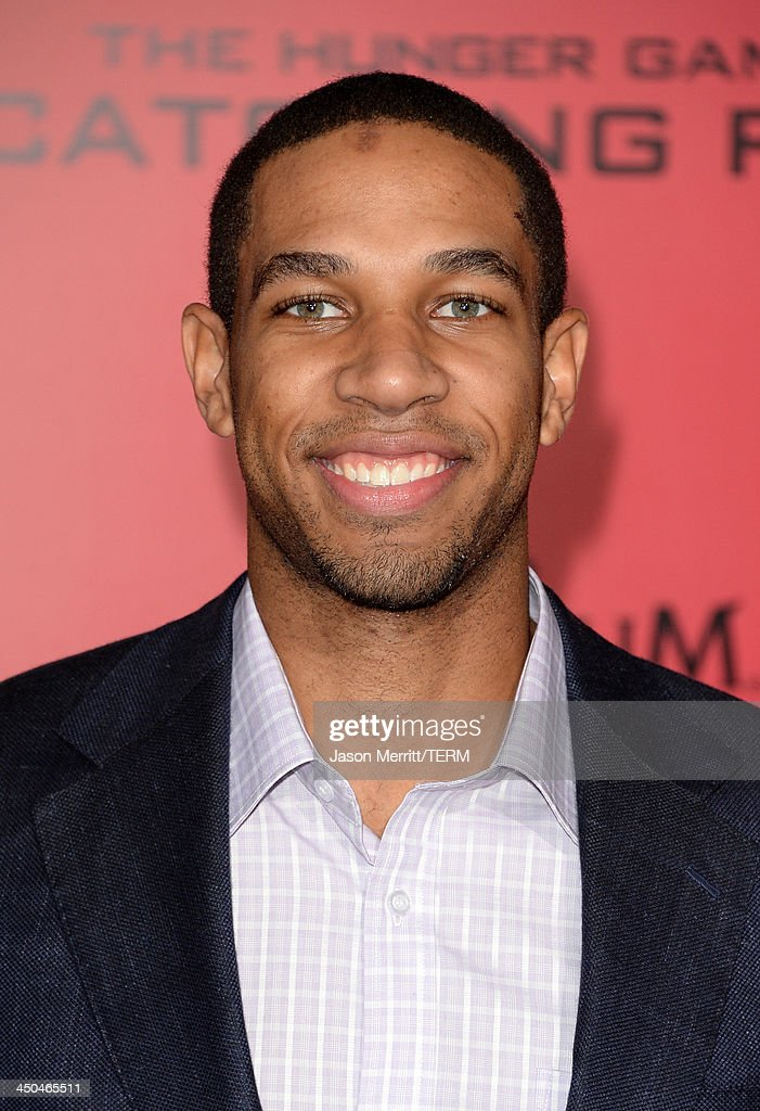 NBA player Xavier Henry arrives at the premiere of Lionsgate's 'The Hunger Games Catching Fire' at Nokia Theatre LA Live on November 18 2013 in Los...