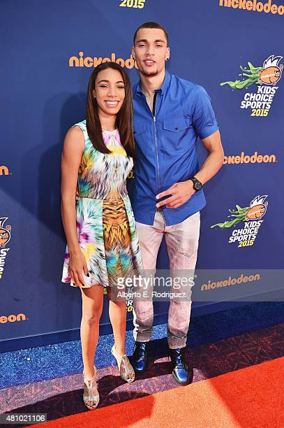 NBA player Zach LaVine attends the Nickelodeon Kids' Choice Sports Awards 2015 at UCLA's Pauley Pavilion on July 16 2015 in Westwood California