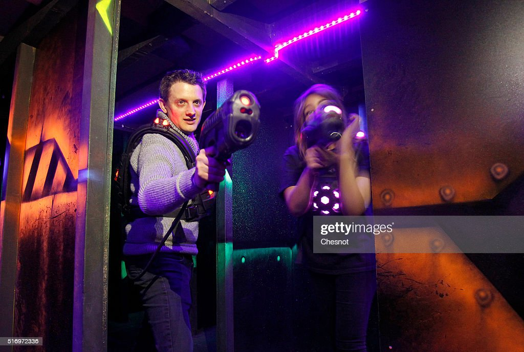 video games compagny laser game evolution organizes its annual press day in grenoble getty images. Black Bedroom Furniture Sets. Home Design Ideas