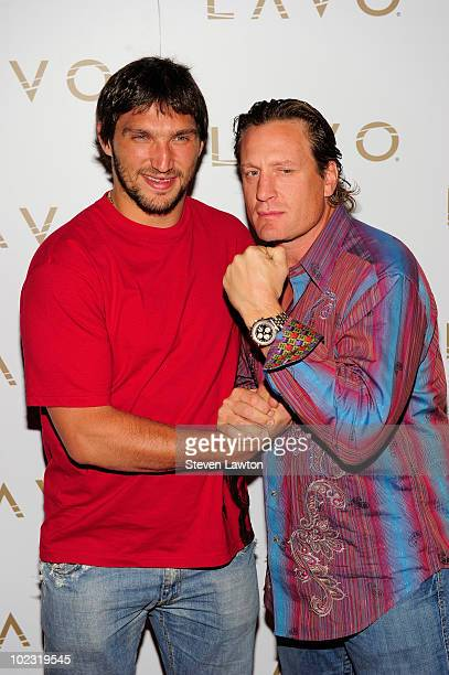 NHL players Alex Ovechkin and Jeremy Roenick arrive to host pre NHL Awards at Lavo on June 22 2010 in Las Vegas Nevada