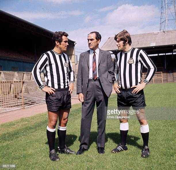 Players and manager of Newcastle United FC Bob Moncur Joe Harvey and Malcolm McDonald