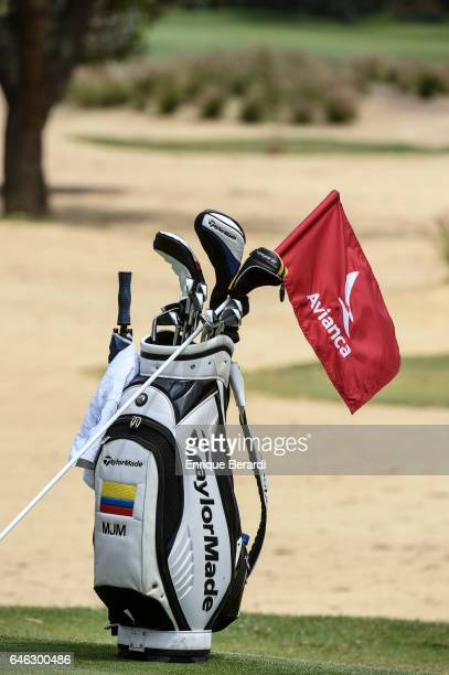A player's bag during the final round of the PGA TOUR Latinoamerica 70 Avianca Colombia Open at Club Campestre Guaymaral on February 19 2017 in...