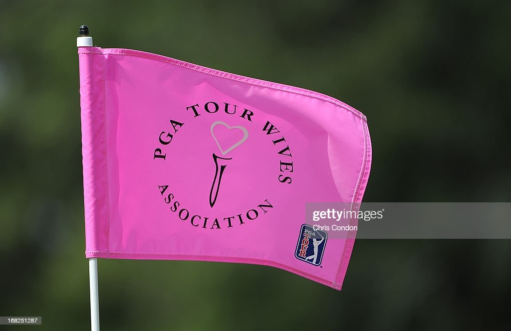 TOUR players caddie for their wives during the PGA TOUR Wives classic golf tournament held on Dye's Valley course before THE PLAYERS Championship on THE PLAYERS Stadium Course at TPC Sawgrass on May 7, 2013 in Ponte Vedra Beach, Florida.