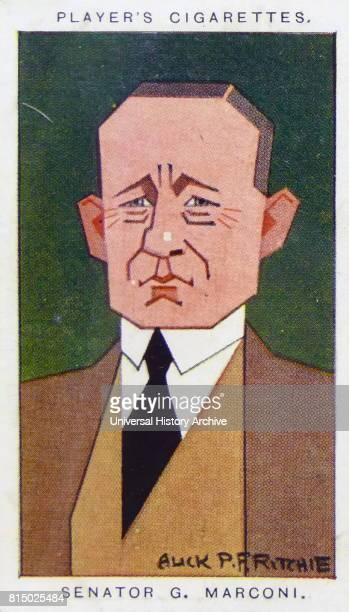 Player's cigarette card depicting Guglielmo Marconi an Italian inventor and electrical engineer known for his pioneering work on longdistance radio...