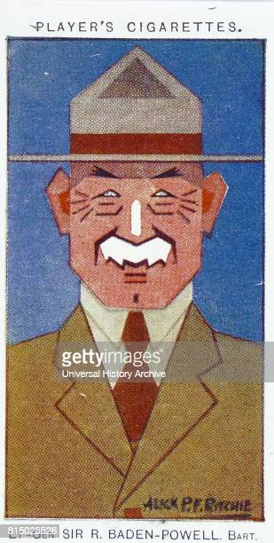 Player's cigarette card depicting Lieutenant General Robert BadenPowell British Army officer writer author of Scouting for Boys which was an...