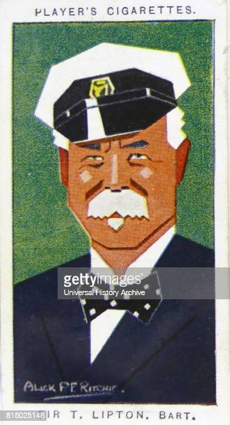 Player's cigarette card depicting Sir Thomas Johnstone Lipton 1st Baronet UlsterScots selfmade man merchant and yachtsman He engaged in extensive...