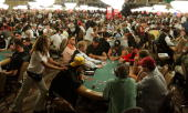 Players compete on the second day of the first round of the World Series of Poker nolimit Texas Hold 'em main event at the Rio Hotel Casino July 29...