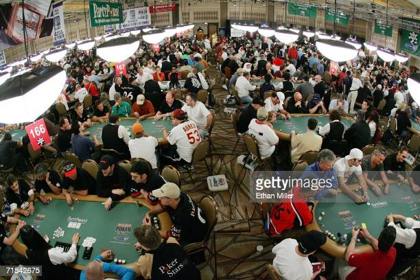 Players compete on the third day of the first round of the World Series of Poker nolimit Texas Hold 'em main event at the Rio Hotel Casino July 30...