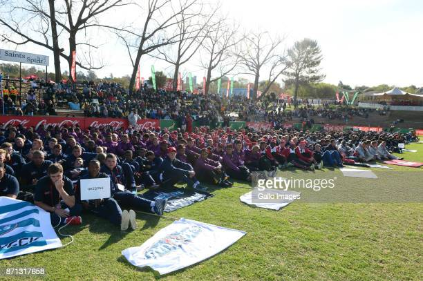 players during the opening ceremony on day 1 of the 2017 U/18 CocaCola Craven Week at St Stithians College on July 17 2017 in Johannesburg South...