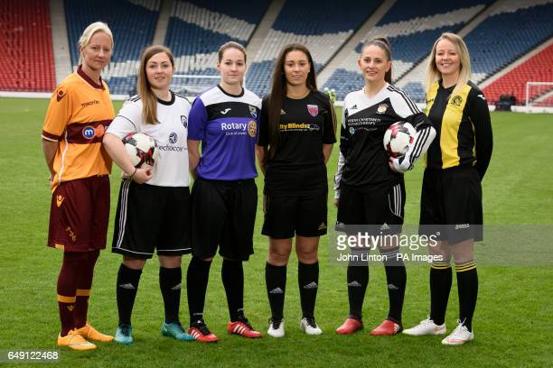 Players from SWPL League 2 Stacey Cook Motherwell Charmaine McGuire Glasgow Girls Teri Skivington East Fife Chantelle McKay Forfar Farmington Danni...