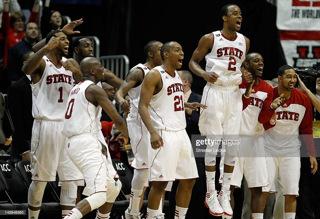 Players from the North Carolina State Wolfpack including Richard Howell DeShawn Painter CJ Williams and Lorenzo Brown of the North Carolina State...