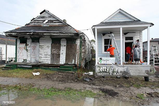 NBA players help repair homes in the East Section of New Orleans as players help participate in the NBA Cares Project during the 2008 NBA AllStar...