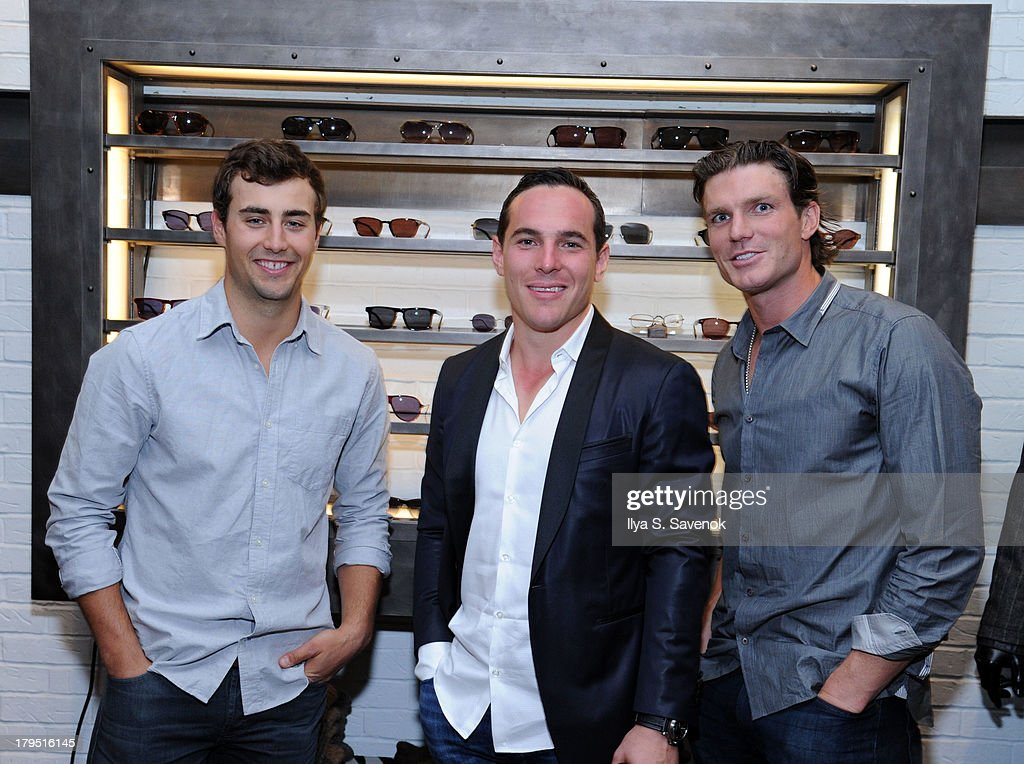 NHL players <a gi-track='captionPersonalityLinkClicked' href=/galleries/search?phrase=Jordan+Eberle&family=editorial&specificpeople=4898161 ng-click='$event.stopPropagation()'>Jordan Eberle</a>, <a gi-track='captionPersonalityLinkClicked' href=/galleries/search?phrase=Mike+Cammalleri&family=editorial&specificpeople=634009 ng-click='$event.stopPropagation()'>Mike Cammalleri</a> and David Clarkson attend John Varvatos event as part of 2013 NHL/NHLPA Player Media Tour on September 4, 2013 in New York City.