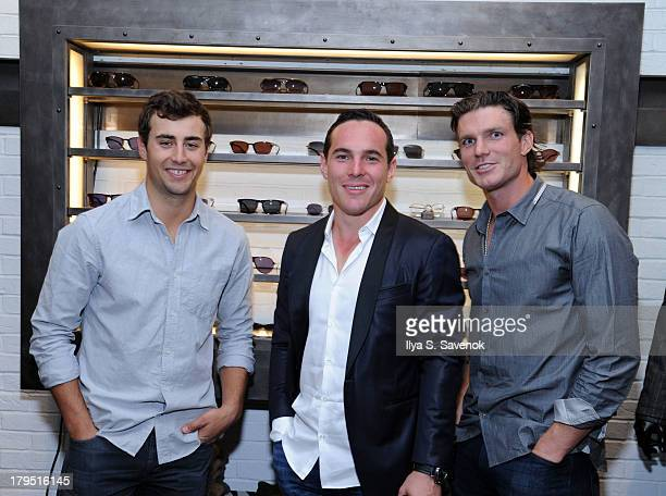 NHL players Jordan Eberle Mike Cammalleri and David Clarkson attend John Varvatos event as part of 2013 NHL/NHLPA Player Media Tour on September 4...