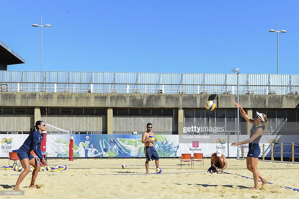 Brazilian Olympic Beach Volleyball Team - Training Session