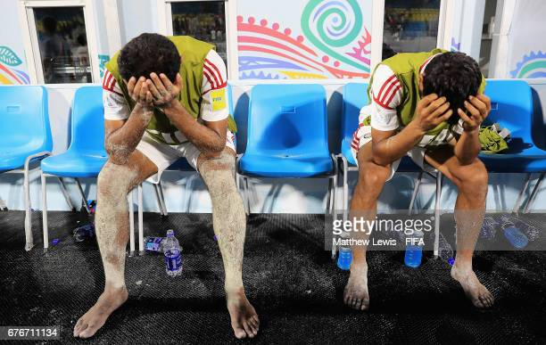 UAE players looks on after they lost to Portugal during the FIFA Beach Soccer World Cup Bahamas 2017 group C match between United Arab Emirates and...