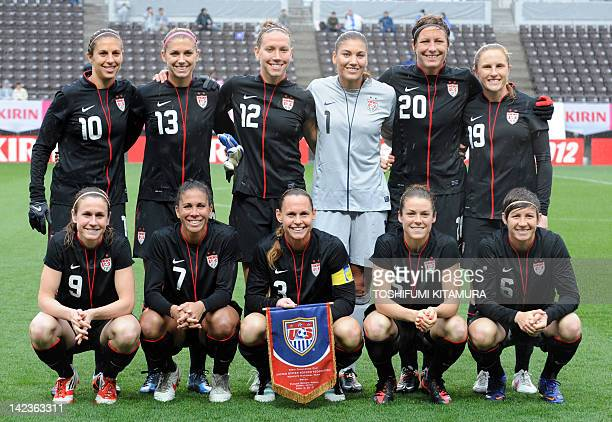 US players midfielder Heather O'Reilly midfielder Shannon Boxx defender and captain Christie Rampone midfielder Kelley O'Hara and defender Amy...