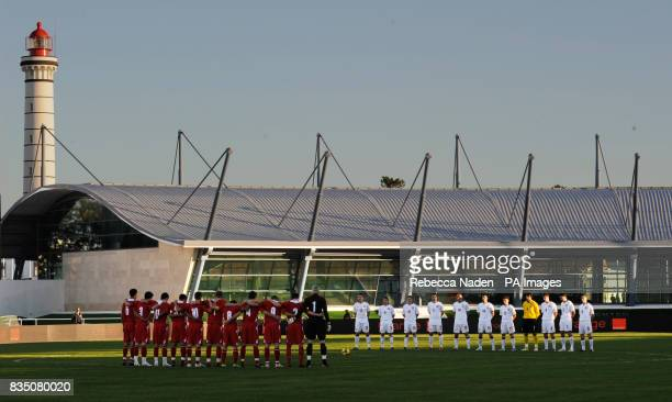 Players observe a one minute silence prior to kick off