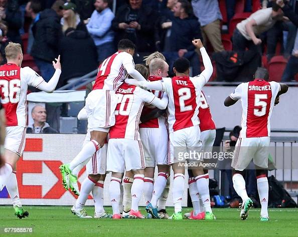 Ajax Amsterdam vs Olympique Lyonnais: UEFA Europa League : News Photo