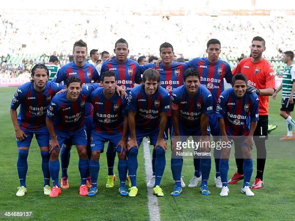 Players of Atlante pose for a team photo prior a match between Santos Laguna and Atlante as part of the 15th round Clausura 2014 Liga MX at Corona...
